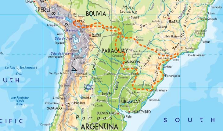 sud america percorso